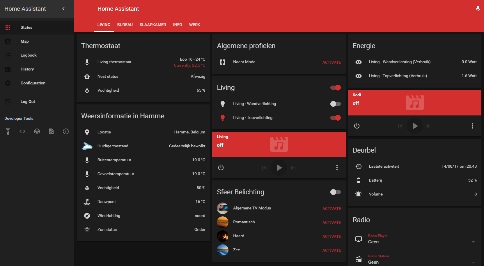 Dark Red Theme - Themes - Home Assistant Community