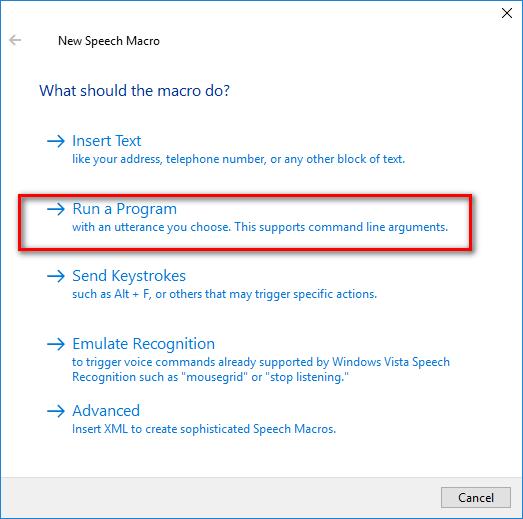 Control HA using Windows Speech Recognition - Configuration - Home