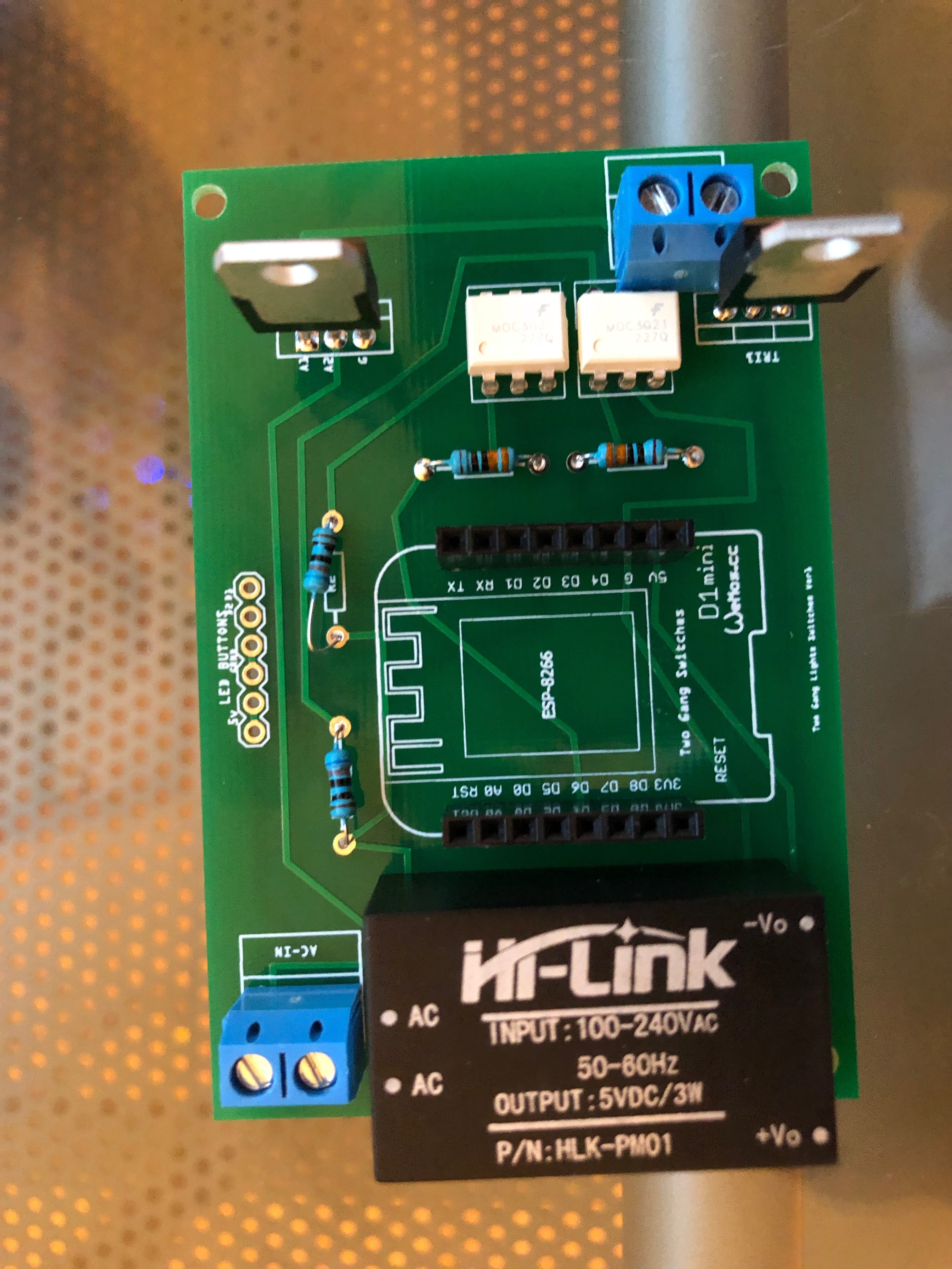 Double Gang Switch With Tasmota Firmware