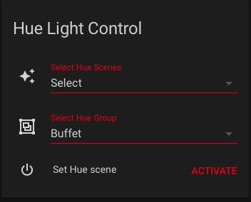no hue hue get scene extract and display active hue scene per